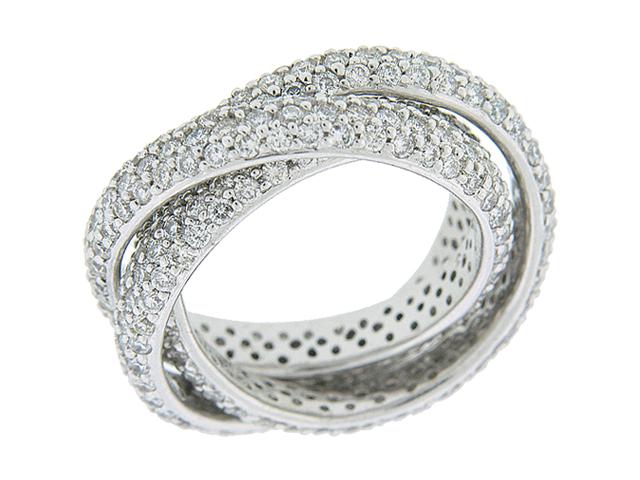 4 01ct Pave Diamond 18k White Gold Rolling Ring At Vonora
