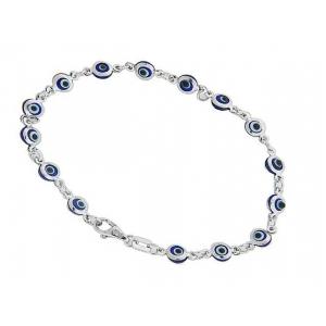 Evil eye charm bracelets at vonora 14k white gold evil eye baby charm bracelet aloadofball Gallery